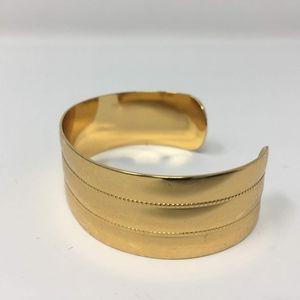 Monet Cuff Bracelet Fold Tone
